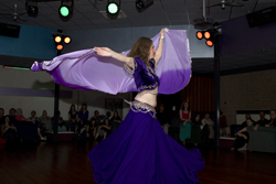 Veil dans at the annual dance festival from Aziza bellydance